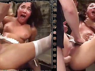 Messy stunner plowed xxx more five hefty penises!