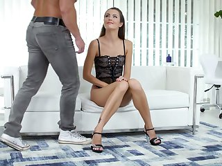 Generous dude greedily polishes both pussy and anus be advisable for Rabelaisian Cindy Shine