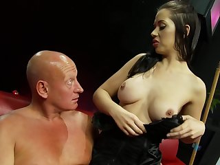 Alexa Andrea jumping on a sturdly penis shile after a blowjob