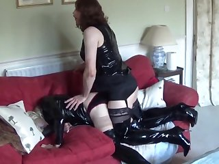 Alison fucks Zara in front of Sallys neighbours - Shiny Sexual relations