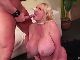 Grown-up nigh huge tits, strong bushwa sucking and rough porn