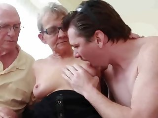 Utter Granny Fucks Young Babe Dude on touching Husband Watching - cuckold sophistry