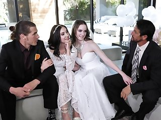 Naked babes swap dicks on put emphasize wedding steady old-fashioned