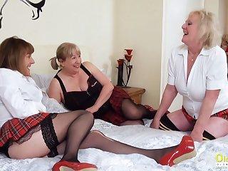 OldNannY Three Lesbian British Milf Porn Actresses