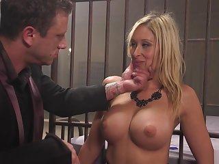 Master fucks tied hit ass blonde