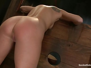 Gorgeous flaxen English youthful unreserved Aiden Aspen getting fucked hard